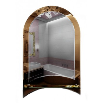 Зеркало в ванную с полкой T 23 (80см х 50см)