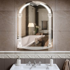 Зеркало арка с светодиодной подсветкой ZE 1 (80 см х 60 см)