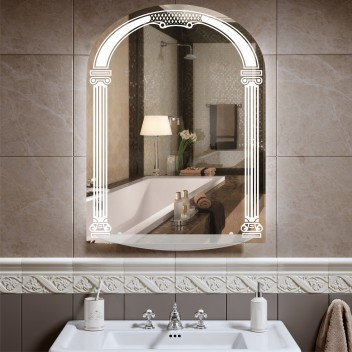 Зеркало арка с светодиодной подсветкой ZE 1  (80см х 60см)