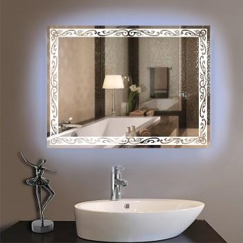 Зеркало с светодиодной подсветкой P2  (60см х 80см)