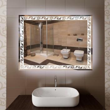 Зеркало с светодиодной подсветкой  P 5 (60 см х 80 см)