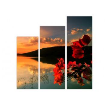"Модульная картина ""Морской закат солнца"""