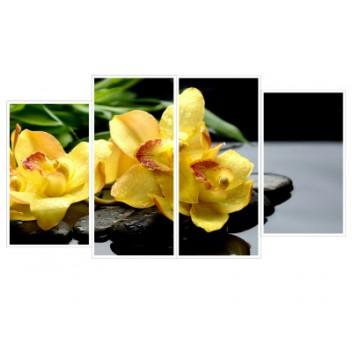 """Модульная картина """"Орхидея жёлтая"""""""
