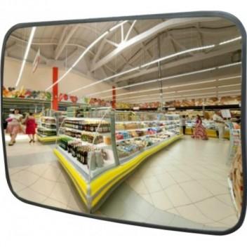 Cферическое прямоугольное зеркало безопасности CПБ 45х80 см