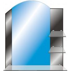 Зеркало с полкой в ванную T 43 (73 см х 61 см)
