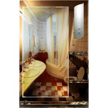 Зеркало в ванную T 09 (90 см х 58 см)