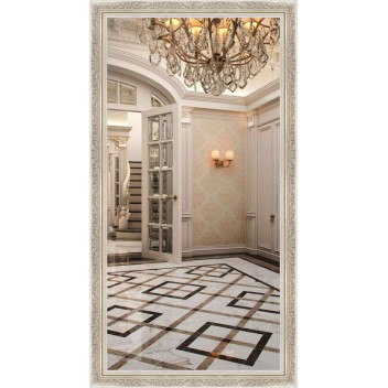Зеркало в багете В 5836-34 (130 см х 70 см)