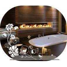Зеркало в ванную с декором  MO 47 (50 см х 60 см)