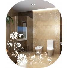 Зеркало с матовым декором  MO 48 (60 см х 50 см)