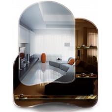 Зеркало с полками T 02 (73 см х 58 см)