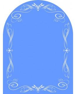 Зеркало в спальню с матовым рисунком  MO 41 (80см х 60см)