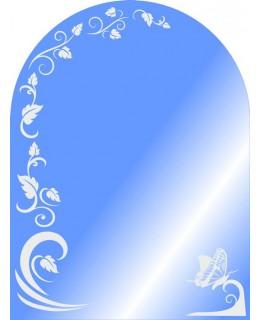 Зеркало с матовым рисунком  MO 43 (80см х 60см)