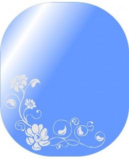 Зеркало для ванны с матовым декором  MO 48 (60см х 50см)