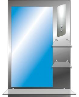 Зеркало с полкой в ванную T 09 (90см х 58см)