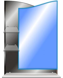 Зеркало с полками в ванную T 30 (70см х 50см)