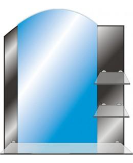 Зеркало с полкой в ванную T 43 (73см х 61см)