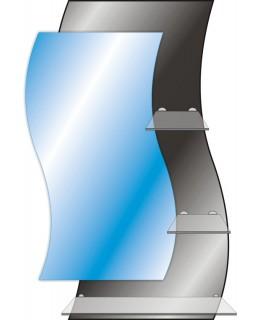 Тонированное зеркало с полками T 44 (87см х 63см)