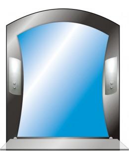 Тонированное зеркало с подсветкой T 46 (69см х 55см)